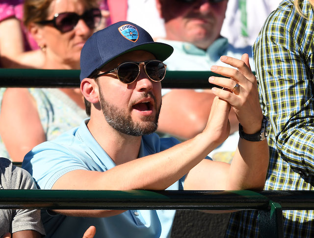 Alexis Ohanian attends day one of the Wimbledon Tennis Championships