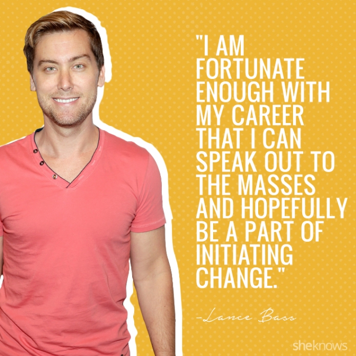 10 Inspirational Lance Bass quotes about