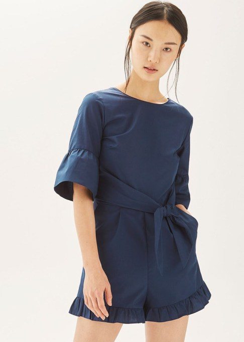 Dressy Jumpsuits: Topshop Poplin Tie Wait Playsuit | Summer Fashion 2017