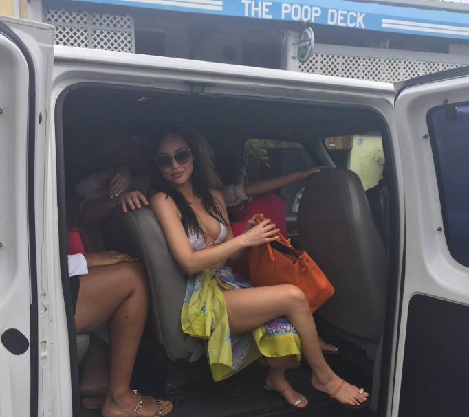 Dorothy Wang travels by caravan in the Bahamas