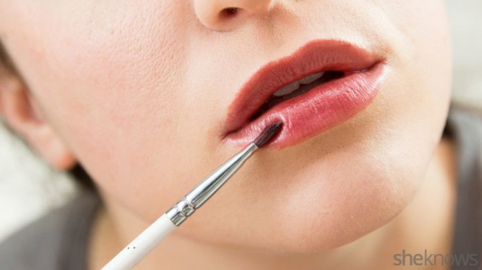 DIY lip color made from eyeshadow