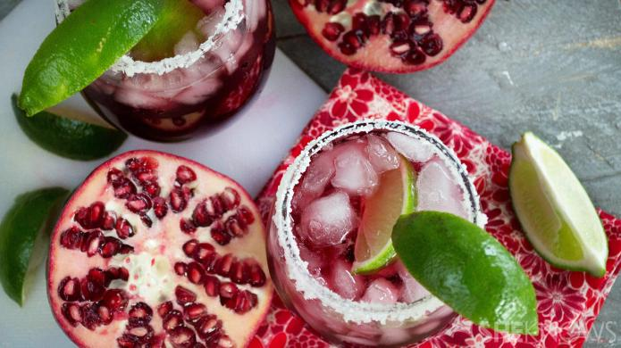 Pomegranate-passion fruit margaritas are the perfect