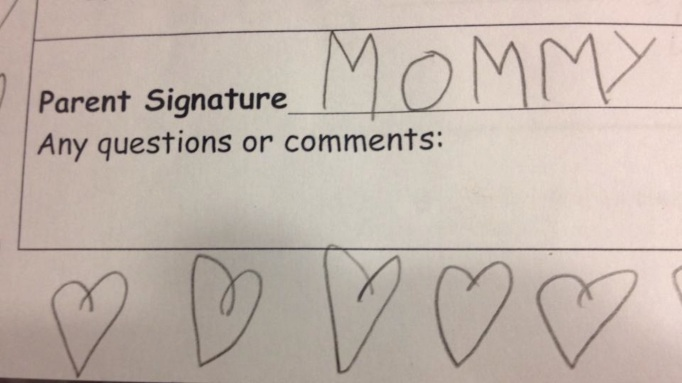 kids try to forge signatures