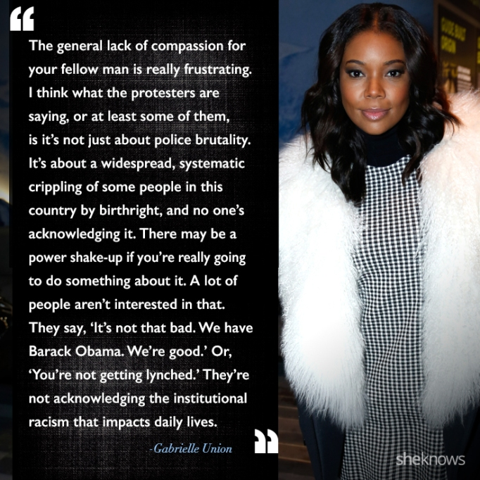 Gabrielle Union race quote