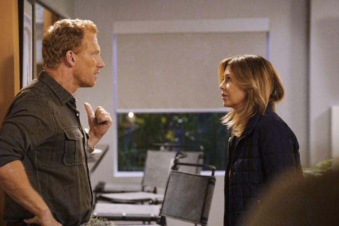 Kevin McKidd and Ellen Pompeo in 'Grey's Anatomy'