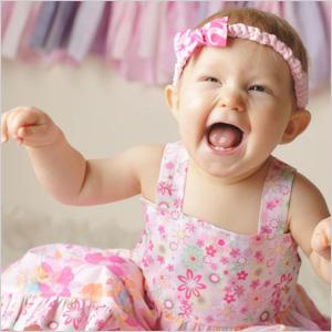 Zoe alittlebit floral baby dress