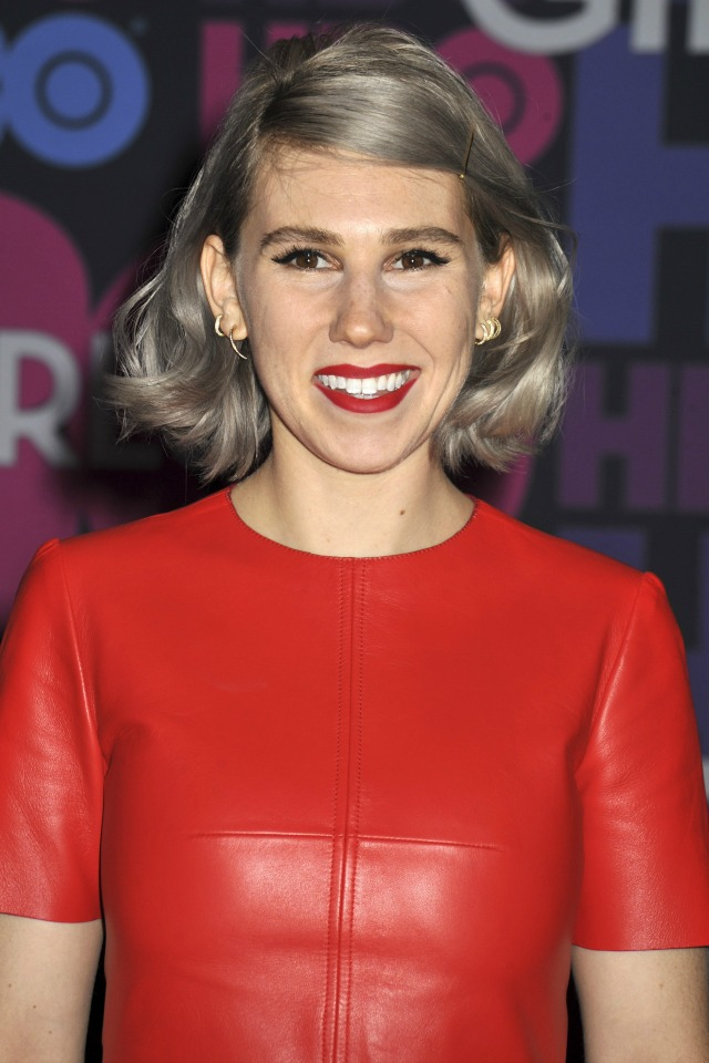 Zosia Mamet with grey hair