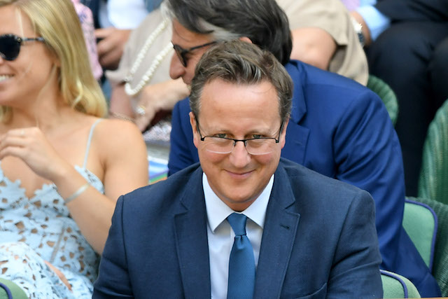 David Cameron attends day five of the Wimbledon Tennis Championships at the All England Lawn Tennis and Croquet Club
