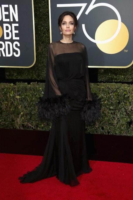Best Golden Globes fashion 2018: Angelina Jolie
