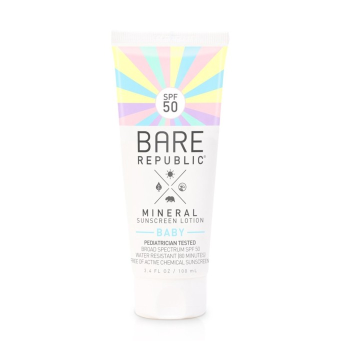 Bare Republic mineral baby sunscreen lotion, SPF 50