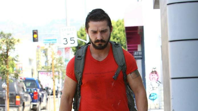 Is this Shia LaBeouf's latest head-scratcher?