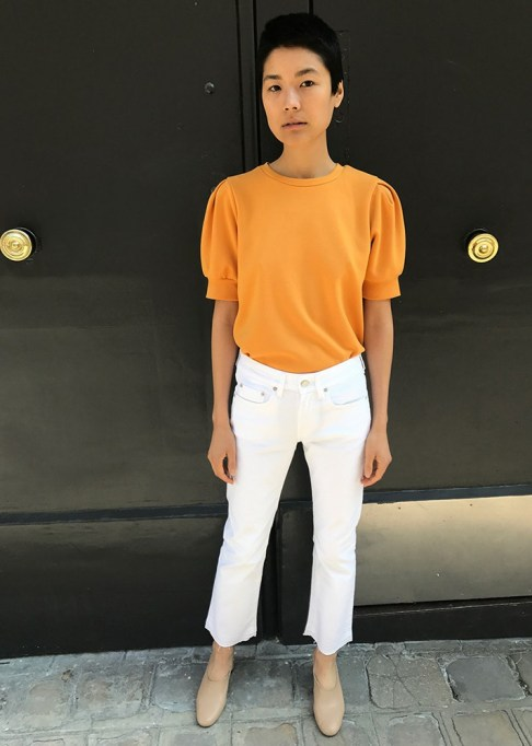Summer Sweaters: Made Mustard Puff Sleeve Top   Summer fashion 2017