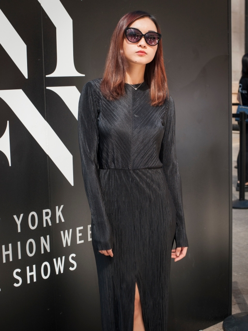 Fashion week street style jumpsuit