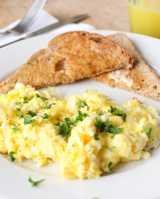How Your Favorite Chefs Scramble Their Eggs: Alton Brown's key to scrambled eggs is heating them evenly