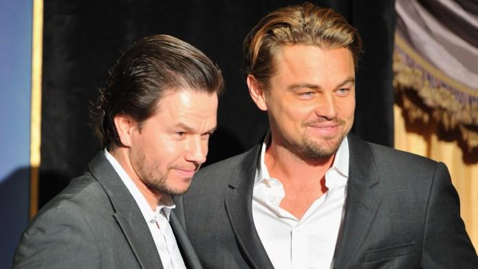 Mark Wahlberg and Leonardo DiCaprio attend