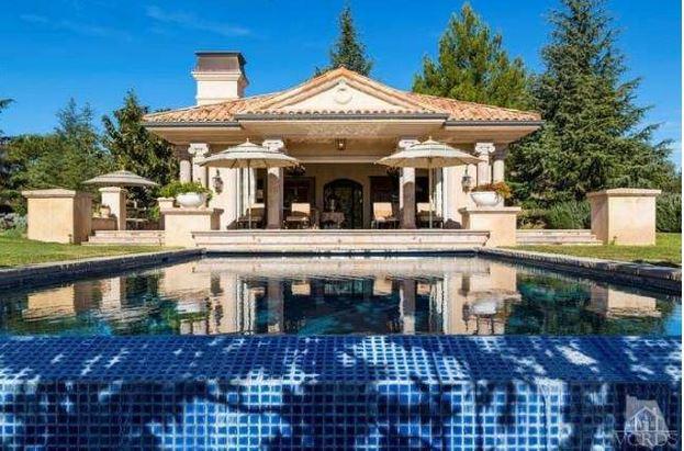 Britney's pool house cabana