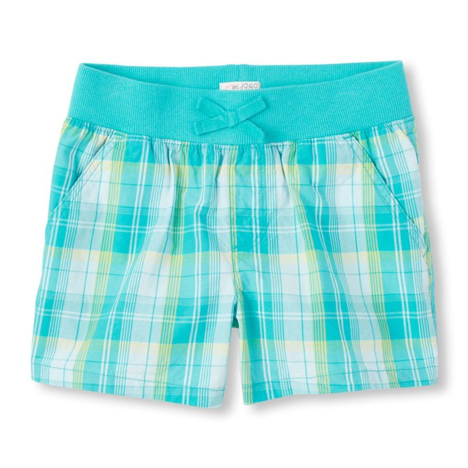 shorts-for-girls-woven-plaid