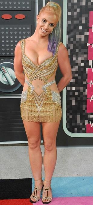 Britney Spears naked mini dress