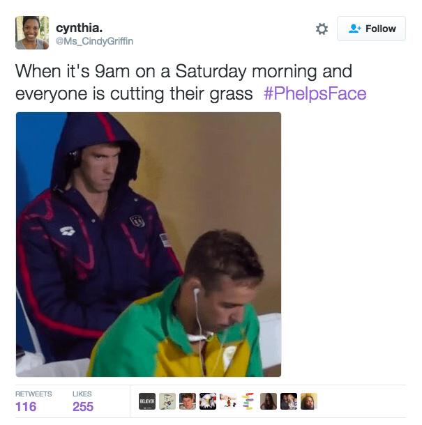 Michael Phelps #PhelpsFace meme
