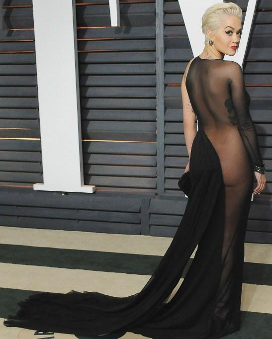 Rita Ora naked dress