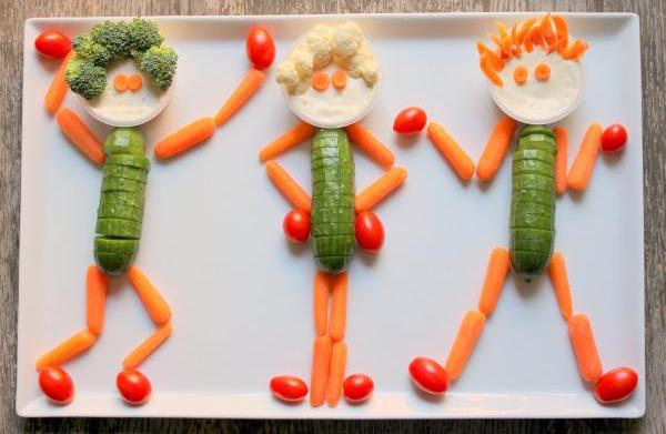 Super snack: Veggie people