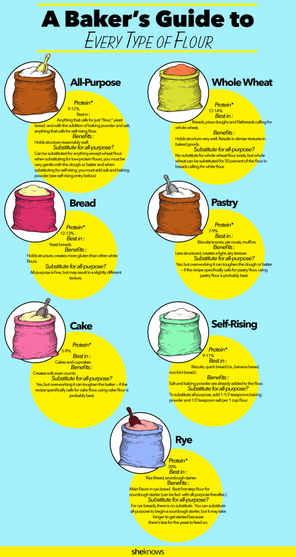 Types of flour infographic