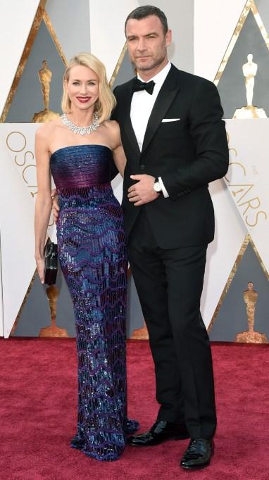 Naomi Watts & Liev Schreiber Oscars 2016