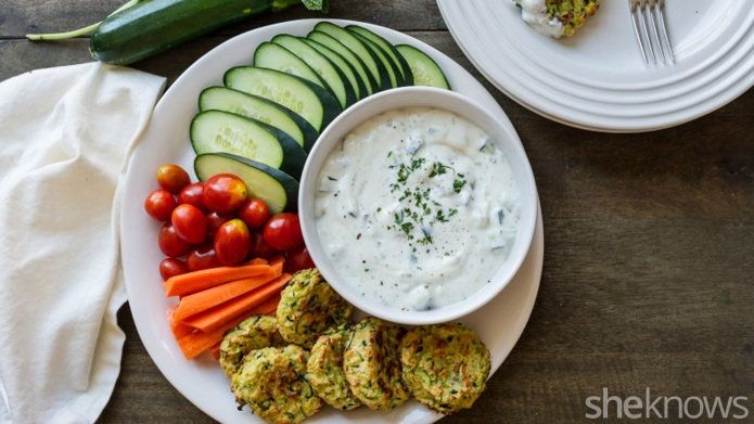 Snack healthier with zucchini fritters and