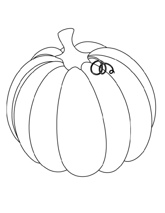 Free Thanksgiving-Themed Coloring Pages for Kids: Thanksgiving Pumpkin