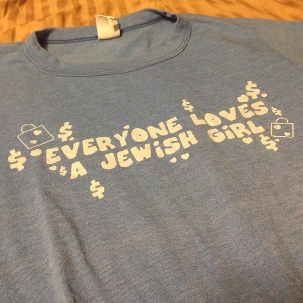 Offensive Everyone Loves a Jewish Girl shirt