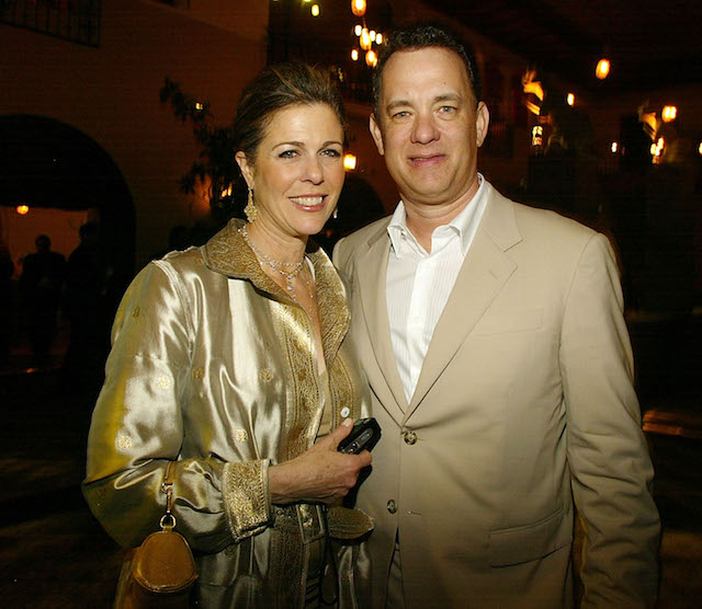 Tom Hanks and Rita Wilson at the 'Ladykillers' premiere in 2012
