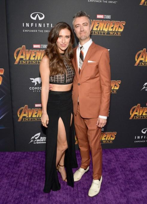 Natasha Halevi and Sean Gunn attends the Los Angeles Global Premiere for Marvel Studios? Avengers: Infinity War