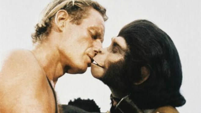 movie kisses Planet of the Apes