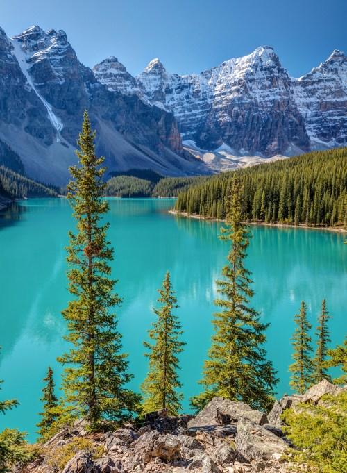 Blue Moraine Lake Banff National Park