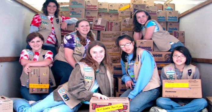 There's a Girl Scout Cookies drive-thru.