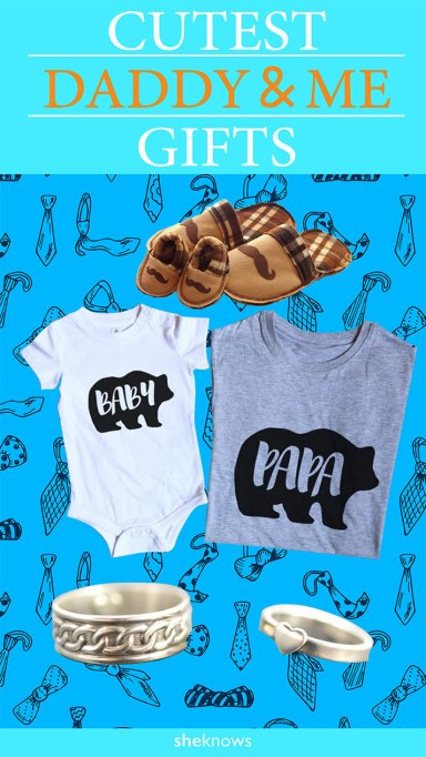 These Daddy & Me gifts are so cute for Father's Day.