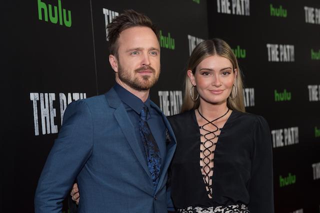 Lauren & Aaron Paul attend the premiere of Hulu's 'The Path' Season 2