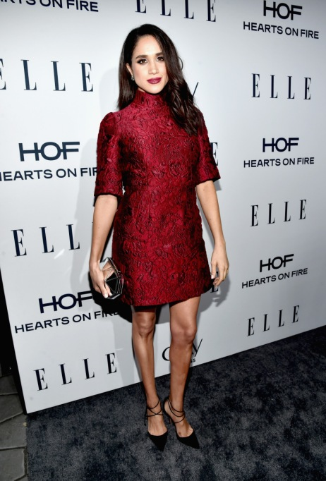 Meghan Markle's Most Fashionable Outfits | Attending ELLE's 6th Annual Women In Television Dinner