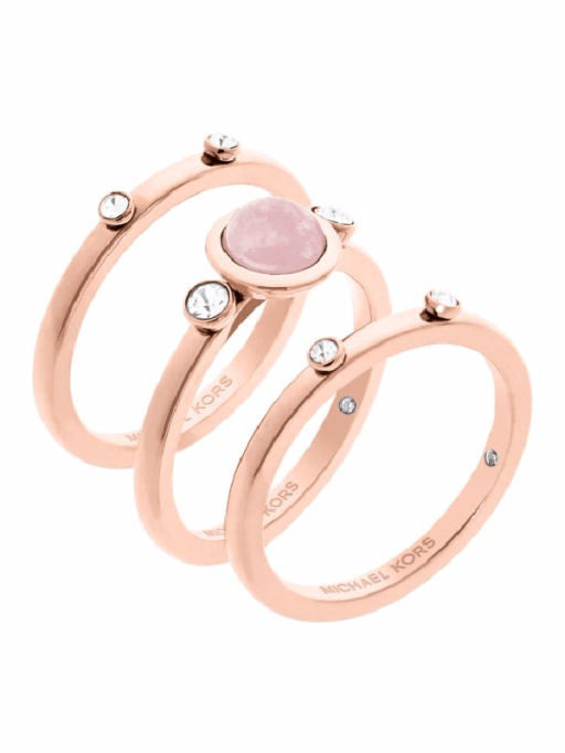 Stackable Rings To Stock Up On: Michael Kors Easy Opulence Rose Quartz Stack Ring Set | Summer Fashion 2017