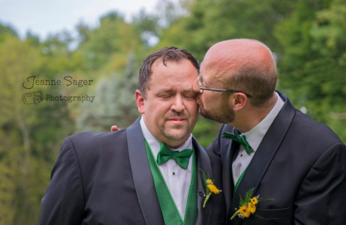 Gay couple wedding photo by Jeanne Sager