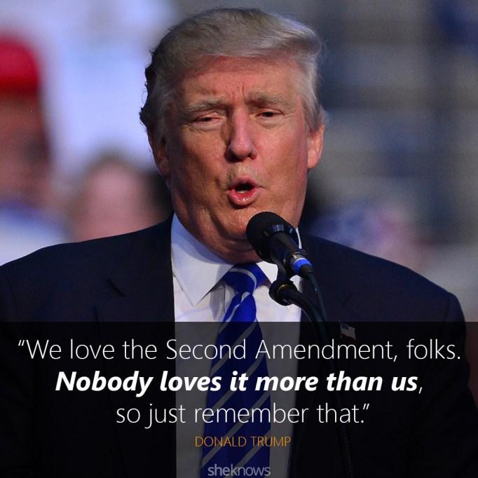 donald trump gun control quote