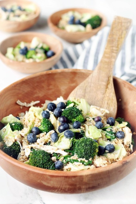 Warm Grains and Greens Salad