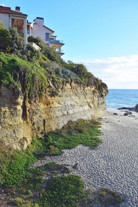 Cliffs near a beach
