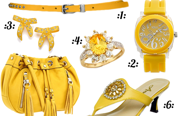 Hello, sunshine: Yellow accessories