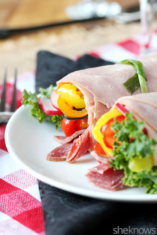 Easy Paleo Italian Roll Up Sandwich