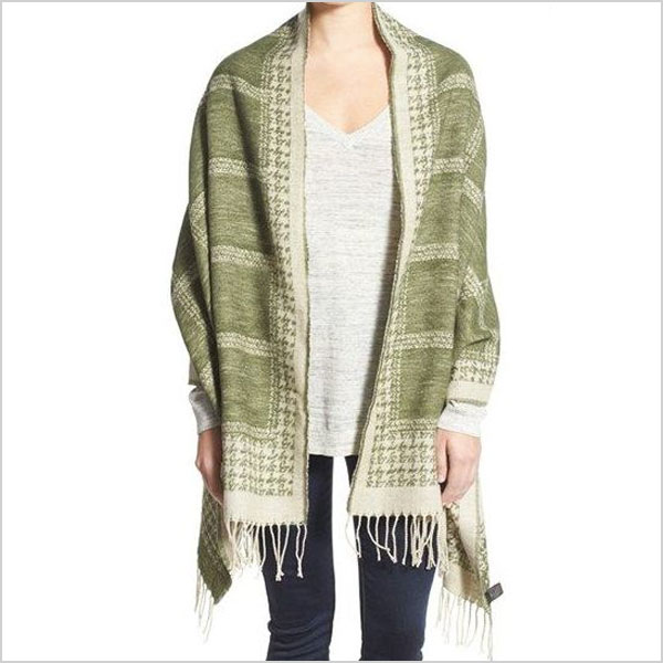 David & Young Houndstooth & Check Blanket Scarf