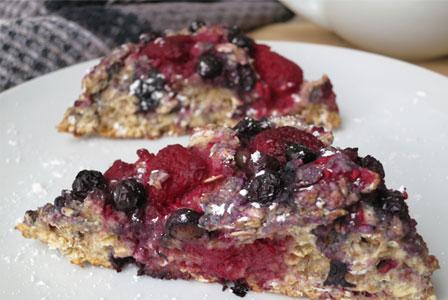 Fruit filled oat scones