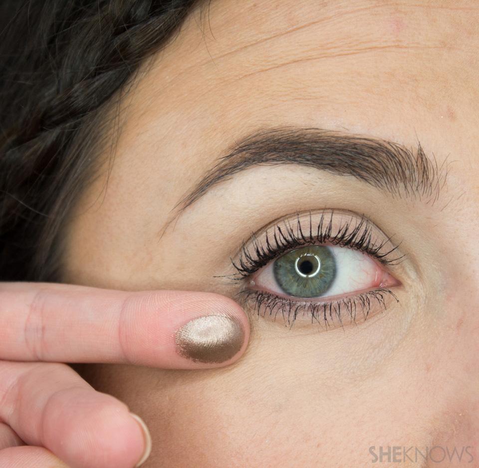 Shimmery, Fall Eye Look: Step 1