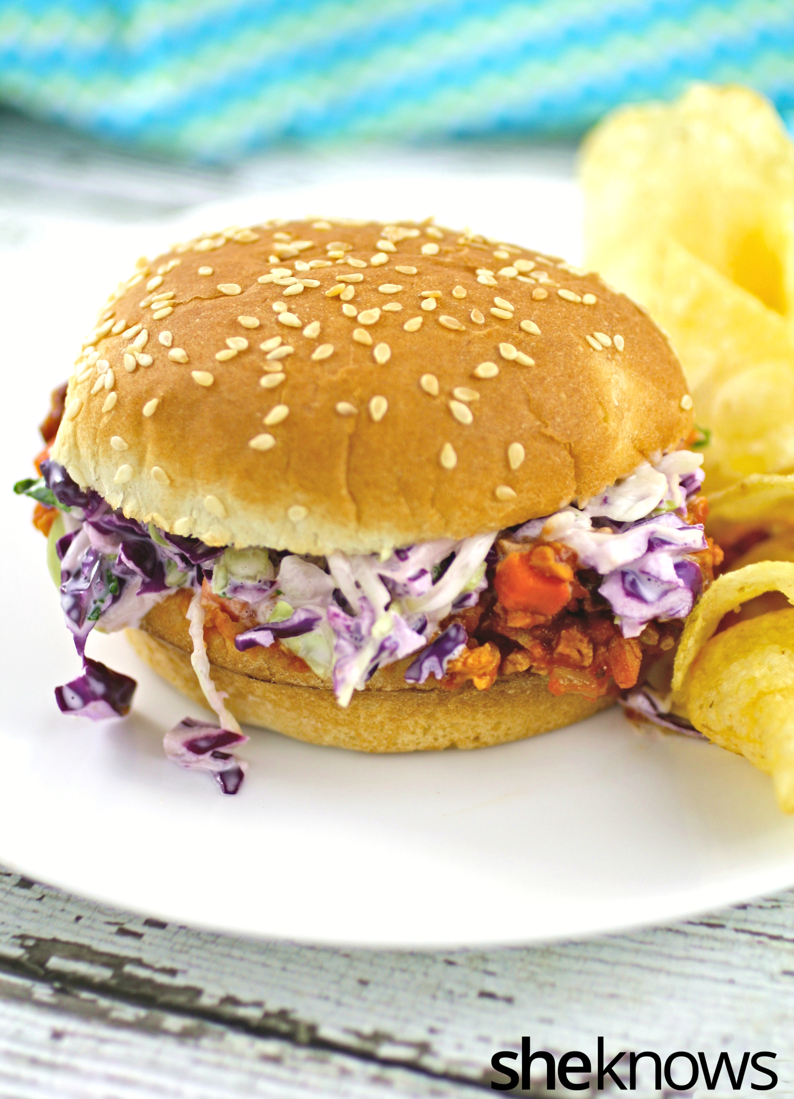 Meatless-spicy-chipotle-sloppy-joes-creamy-slaw