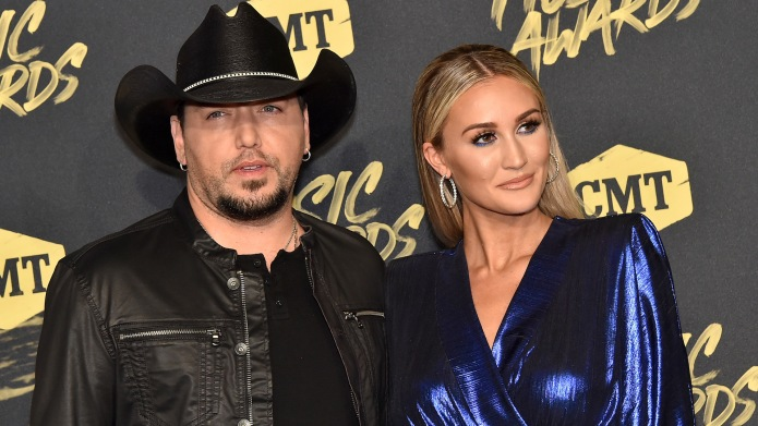 Jason Aldean and Brittany Kerr attend
